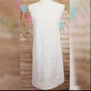 Vfish M Medium Shift Dress White Embroidered Lace
